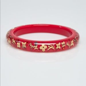 Louis Vuitton X Swarovski red monogram bracelet